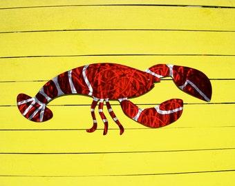 Lobster Art, Lobster Metal Art, Maine Lobster, Outdoor Wall Art
