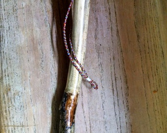 Walking Stick Hand Crafted Carved Whittled by Emmaus Gift Guide Men Women Natural Maple Wood Hand Wrapped Grip