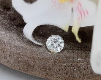 White Sapphire 7 MM Round for Custom Engagement Ring September Birthstone by Rogerio Graca