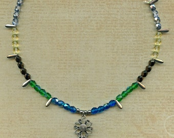 Multi-Colored Crystal necklace