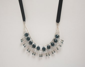 Montana blue crystals statement necklace