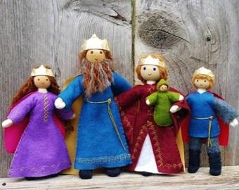 Castle Dollhouse Family Bendy Doll