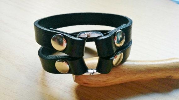 Mens cuff,mens bracelet,man cuff,black mens cuff,men black cuff,black leather,man jewelry,woman leather cuff,black cuff,black studs cuff