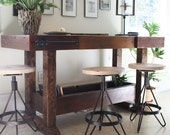 The Earhart Stool-Industrial Modern Barstool Made with Reclaimed Wood