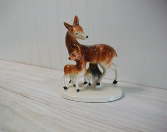 Deer Figurine Statue,Made in Japan, Mid Century Pottery Deer Statue