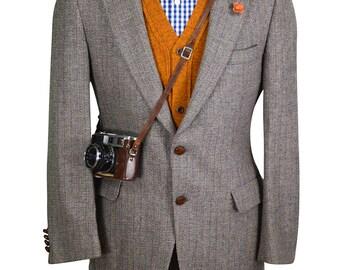 38R Lanvin Tweed Men's Vintage Blazer