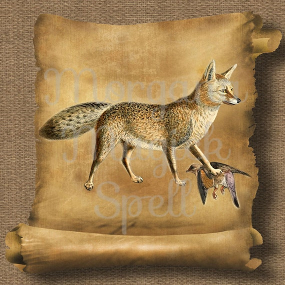 Vintage Fox Royalty Free Clipart