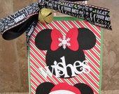Disney Christmas Gift Bag - Mickey Mouse - Minnie Mouse