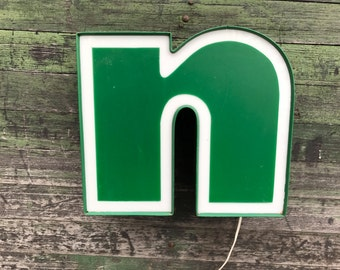 n - Reclaimed vintage letter - 12 inch - NEW