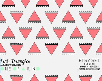 Pink Triangles - etsy set