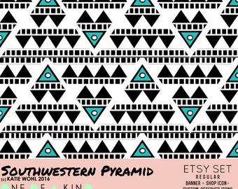 Southwestern Pyramid - etsy set