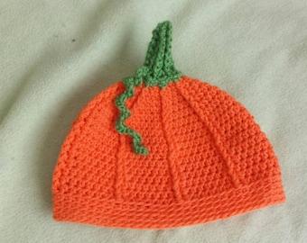 Crochet Pumpkin Beanie Hat