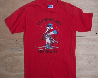 MED | Looney's Ski Minnesota Souvenir T Shirt 1984