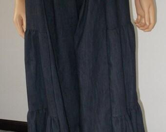 Vintage Fringed Culottes Split Skirt Gauchos L&B Western Wear