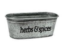 Herbs & Spices Kitchen Storage Tub