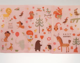 Lovely Animals Sticker (3 Sheets)