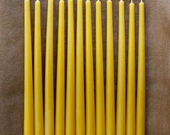 "12"" 100% Pure Beeswax Tapers (set of 12)"