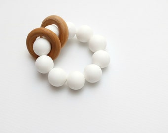 rose gold double silicone teething toy teething ring. Black Bedroom Furniture Sets. Home Design Ideas