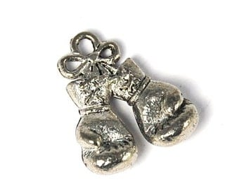 Boxing Gloves Pewter Charm -1