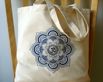 Mandala Canvas Tote Bag Book Bag