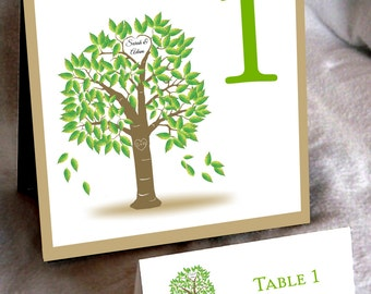 25 Tree Rustic Table Numbers and 250 place settings