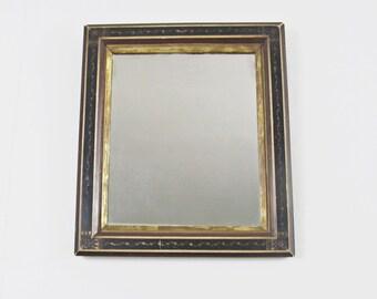 antique mirror, wall mirror, vintage mirror, antique picture frame, Eastlake frame, geometric, botanical, Victorian era mirror circa 1875