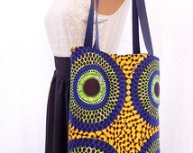 African Ankara Printed Tote/Shoulder/Shopper/Book Bag