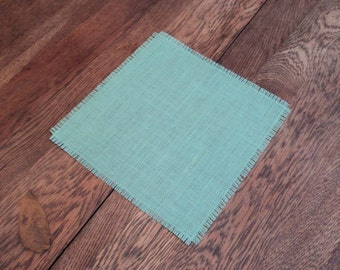 """10 Burlap Table Squares 24"""" x 24"""" Burlap Table Toppers Rustic Wedding Centerpieces Overlays for Tables Burlap Table Mat"""