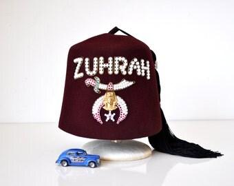 Vintage Shriner's Fez in Case Zuhrah