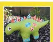 Dilbert Dinosaur softie paper pattern - Dino soft toy paper pattern - Melly and Me - NEW in sealed bag