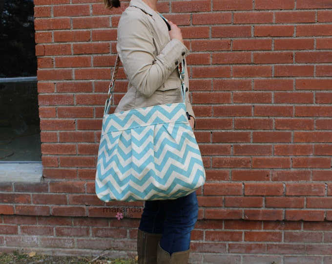 Emma Large - Blue Chevron