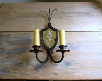 Vintage Bronze Wall Sconce