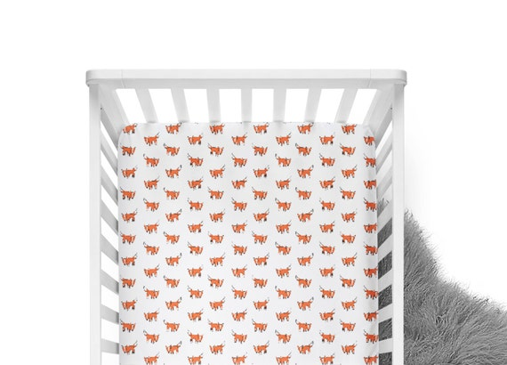 Like this item? - Fitted Crib Sheet Orange Fox Orange Crib Sheet Fox Crib