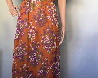 1970s Maxi Boho Dress