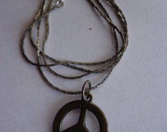 1970s Peace Sign Pendant And Chain