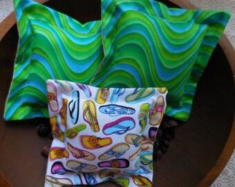 Primitive Summer Fun Bowl Filler Flip Flop Ocean Waves Whimsical Pillow Tucks