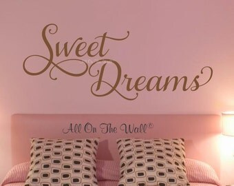 Sweet Dreams Wall Decal Bedroom Decals Guest Bedroom Decals Goodnight Decals Bedroom Wall Decor Master Bedroom Kids Bedroom Decals Nursery