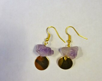 Amethyst & Gold Earrings
