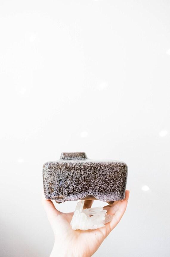 Vintage Dutch Purple Studio Pottery Lava Vase // Afina Rijnsburg // 1960s Ceramics