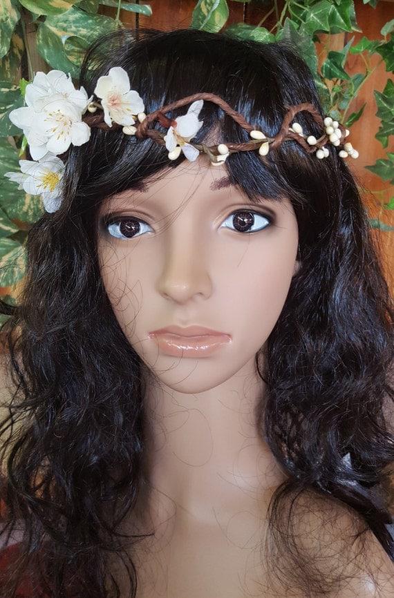 Flower Crown, Floral Hair Wreath Wedding, Boho Woodland,  Flower Halo, Wedding Flower Crown, Hippie Flower Crown Headband, Outdoor Wedding