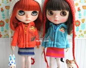 Girlish - Paul Frank Zip Jacket Set for Blythe doll - dress / outfit