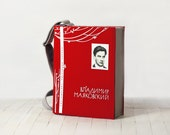 Red Book Bag Mayakovsky Poetry Felt Bag