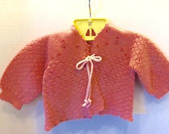 Vintage Handmade Infant Pink Sweater