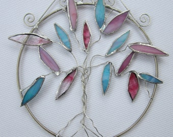 Stained Glass Tree of Life Suncatcher
