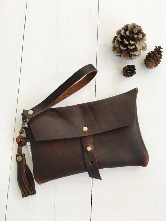 brown leather clutch, leather clutch purse, small leather purse, clutch purse, clutch bag, brown leather bag, simple bag
