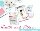 Health. More Organized. - Mini 5.5 x 8.5 -Weight Loss Tracker, Food Log, Goals/Rewards, Measurement Tracker and Workout Log Digital File