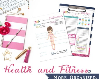 Health. More Organized. - Weight Loss Tracker, Food Log, Goals/Rewards, Measurement Tracker and Workout Log Digital File
