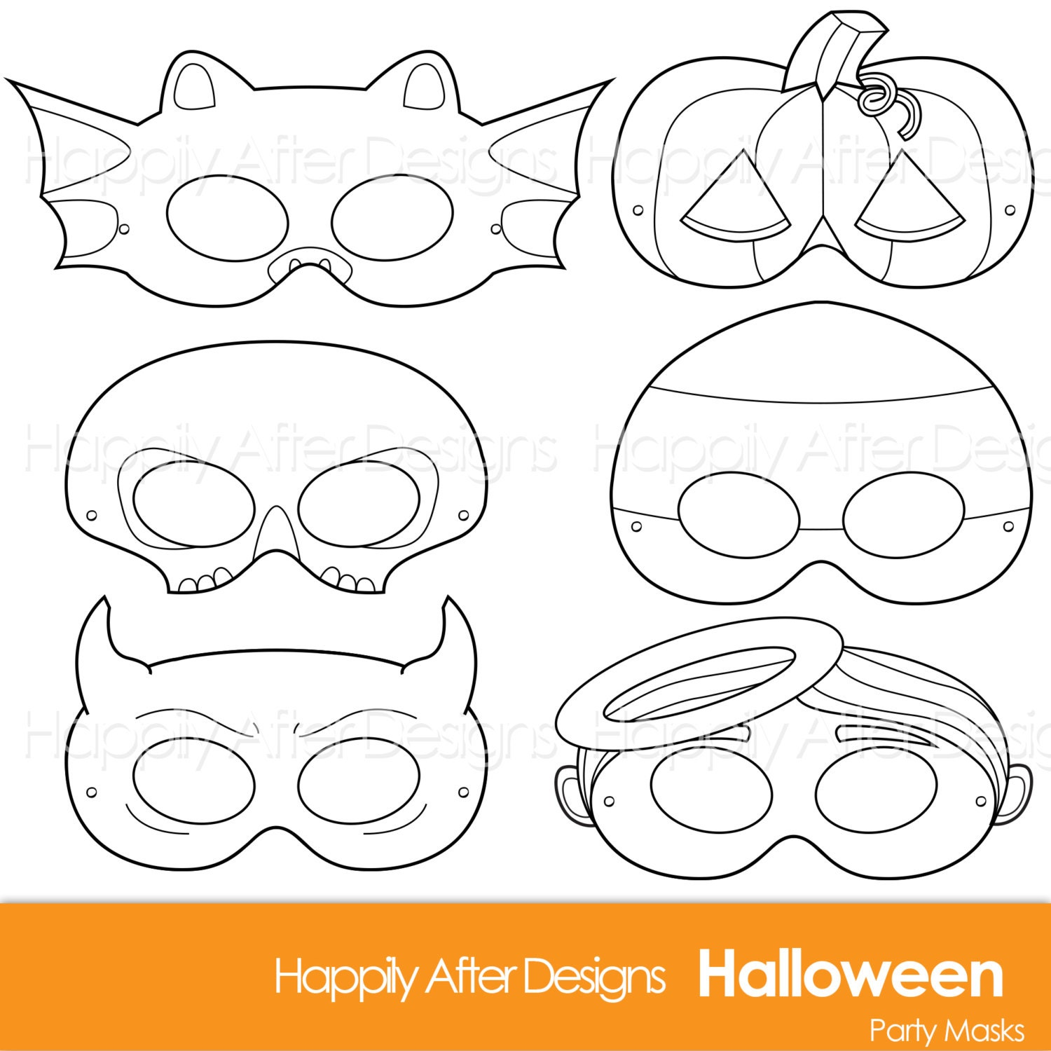 This is an image of Witty Halloween Mask Printables