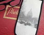 Eyeglass Case with Vintage Photo: US Capitol and Streetcars in the Snow, c. 1930