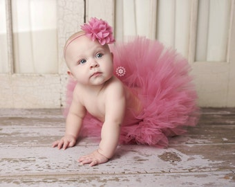 Newborn Tutu Rose Tutu Sweet Rose Tutu Rose Pink Tutu And Headband Cake Smash Tutu Cake Smash Outfit Pink Baby Girl Tutu Newborn Photo Prop